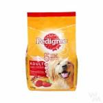 Pedigree ชนิดเม็ด รสเนื้อวัวและผัก 1.5 kg สำหรับสุนัขโตเต็มวัย