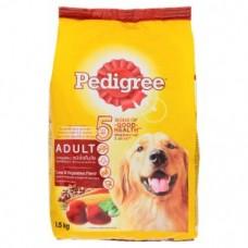Pedigree ชนิดเม็ด รสตับและผัก 1.5 kg สำหรับสุนัขโตเต็มวัย