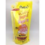 เพียวรีน Pureen Kids Yogurt เฮดทูโท วอช กลิ่นเนเชอรัล 600 ml. รีฟิล