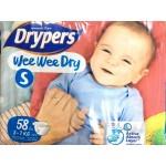 ดรายเพอร์ส Drypers Wee Wee Dry ไซส์ S ห่อ 58 ชิ้น