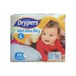 ดรายเพอร์ส Drypers Wee Wee Dry ไซส์ L ห่อ 68 ชิ้น