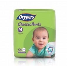 ดรายเพอร์ส Drypers Classic Pants ไซส์ M ห่อ 58 ชิ้น