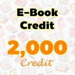 E-Book Credit 2000 credit